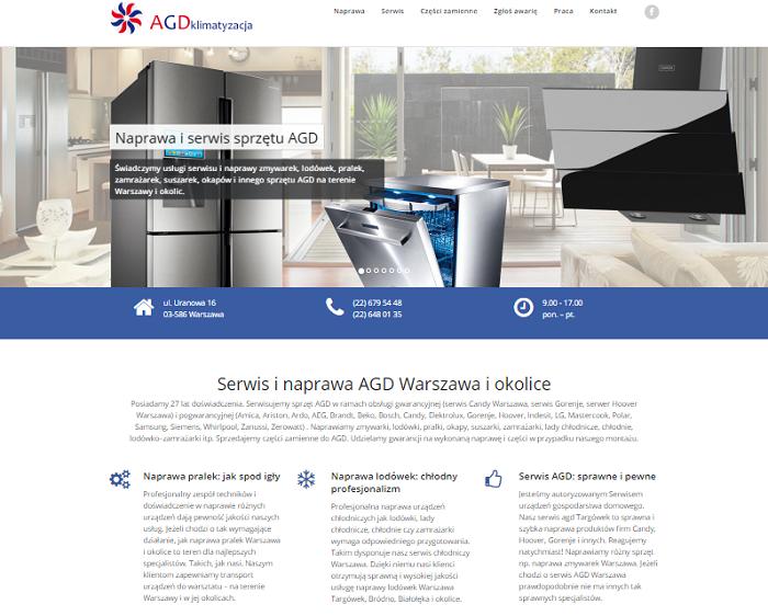 Strona internetowa lokalnego usługodawcy - szerszy asortyment usług