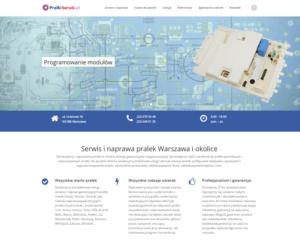 Strona internetowa lokalnego usługodawcy - wąski asortyment usług