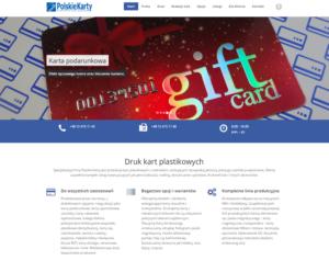 Strona internetowa producenta kart plastikowych