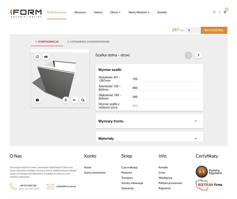 Moduł Prestashop - konfigurator produktów IMOS 3D NET