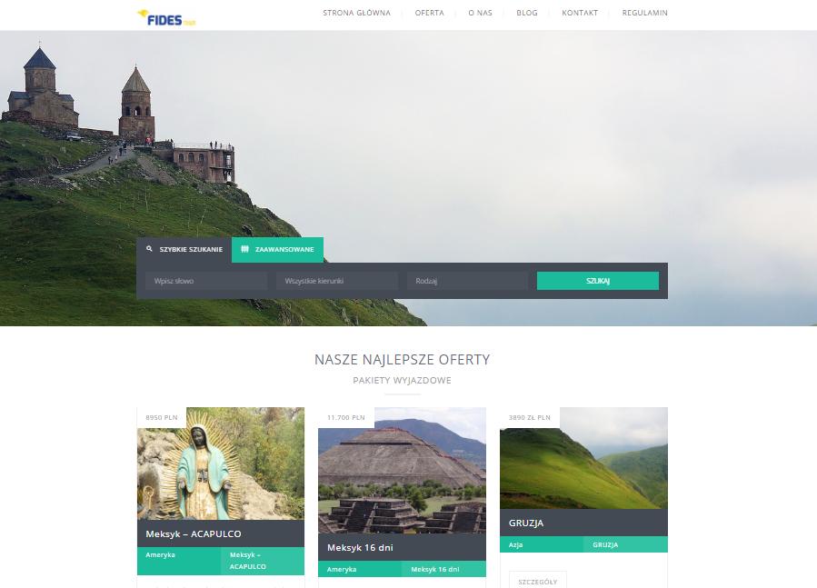 Strona WordPress dla biura podróży lub agencji turystycznej